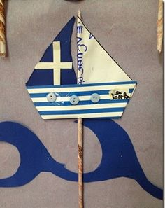 Greek Christmas, Kids Christmas Ornaments, Christmas Crafts For Kids, Fall Crafts, Decor Crafts, Holiday Crafts, Craft Stick Crafts, Diy And Crafts, Arts And Crafts