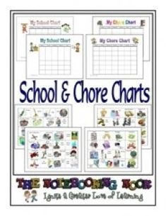 Notebooking Nook: Freebie - School and Chore Charts