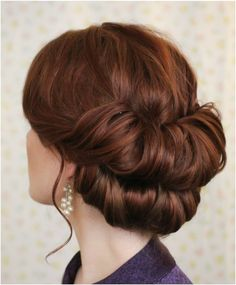 Wedding updo hairstyle Holiday Hairstyles, Up Hairstyles, Pretty Hairstyles, Wedding Hairstyles, Wedding Updo, 1950s Hairstyles, Homecoming Hairstyles, Hairdos, Easy Vintage Hairstyles