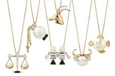 Tell Me Dior Necklace Collection From L to R : Libra, Aquarius, Gemini, Aries, Taurus & Pisces