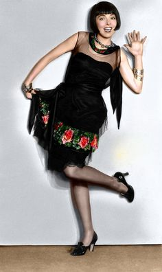 Colleen Moore- colorized pic!!! Well pleased I found this on pinterest