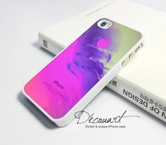 Unique iPhone 4 case, iPhone 4s case, case for iPhone 4, abstract pink pattern with apple logo W273. $16.99, via Etsy.