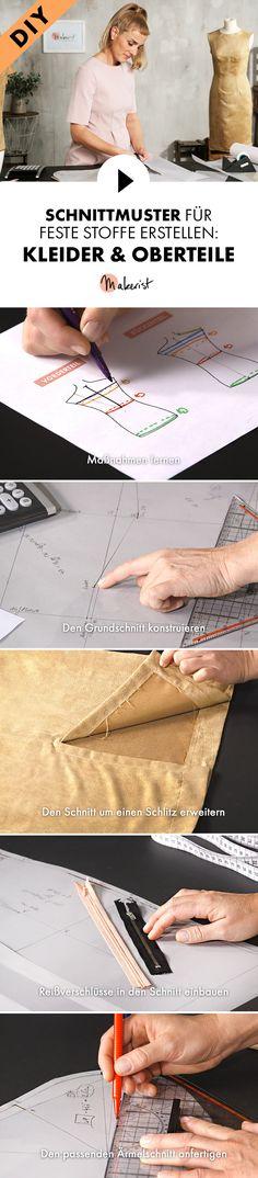Schnittmuster für Etuikleider oder Oberteile selber machen - Schritt für Schritt erklärt im Video-Kurs via Makerist.de