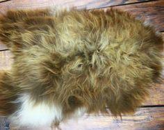 Exclusive Genuine Natural rare Icelandic Sheepskin Rug, Pelt, super soft long fur - XXL LARGE - brown blonde Sheepskin Rug, Brown To Blonde, Vintage Marketplace, Shag Rug, Fur, Natural, Handmade, Etsy, Vintage Market