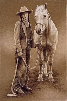 Hannas Palomino by Carrie L Ballantyne Giclee Print ~ 16 x 10 1/2 ... Shift+R improves the quality of this image. Shift+A improves the quality of all images on this page.