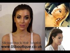 ▶ How to get Kim Kardashian Billie Faiers Slicked back hair tutorial by 05 boutique - YouTube