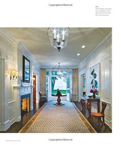 Entry hall with fireplace! Designs for Living: Houses by Robert A. M. Stern Architects: Randy M. Correll, Gary L. Brewer, Grant F. Marani, Roger H. Seifter, Robert A. ...