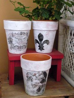 French Country Garden Pot