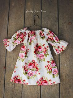 Spring Dress Girls easter Dress Baby Dress floral outfit