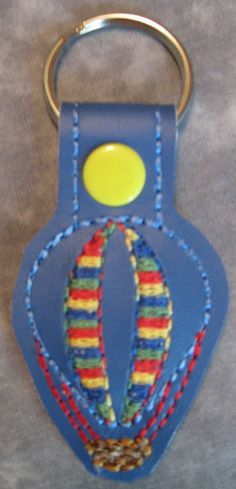 Snap Tab Key Fob - Balloon with Yellow Snap by ghostwalk on Etsy