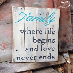 Hey, I found this really awesome Etsy listing at https://www.etsy.com/listing/207736899/hand-painted-family-wood-pallet-sign
