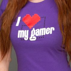 J!NX : I Love my Gamer Women's Tee - Clothing Inspired by Video Games & Geek Culture