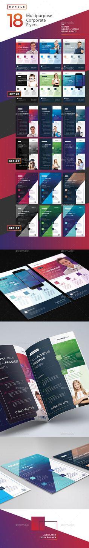 Corporate Flyer Template PSD Bundle #design #promote Download: http://graphicriver.net/item/corporate-flyer-bundle-1-18psd/13282441?ref=ksioks