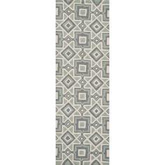 """Mercer41 Grant Hand-Hooked Gray Area Rug Rug Size: Runner 2'3"""" x 7'6"""""""