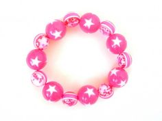 Fuchsia Carnival Couture Stretchy Bracelet