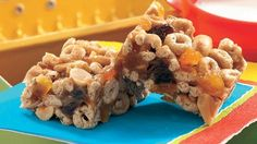 Crunchy, nutty, and sweet, these bars have a peanut butter and brown sugar syrup keeping dried fruit, cereal, and more together.