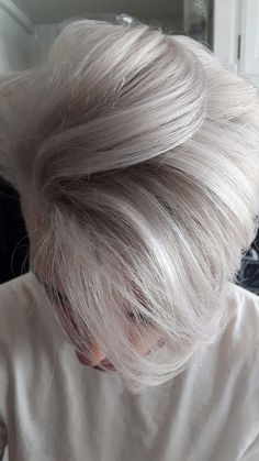 Silver blonde for men
