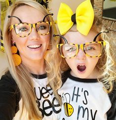 - See More Bee Party Ideas at B. Bee Cake Pops, Bee Cupcakes, Gender Reveal Cupcakes, Bee Gender Reveal, Yellow Desserts, Cute Desserts, Bee Glasses, Bee Party Favors, Day Party Outfits