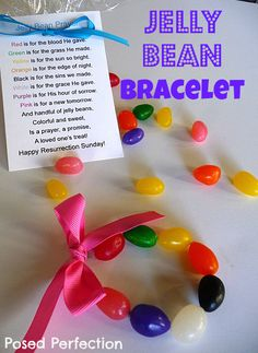 40 Fun and Joyful Easter Family Craft Ideas - Jelly Bean Easter Bracelets
