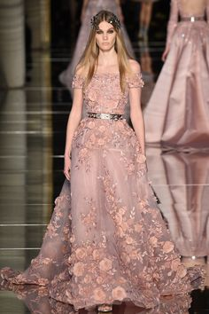 Zuhair Murad Spring 2016 Couture: ethereal beauty! I love the off shoulder and the floral appliques