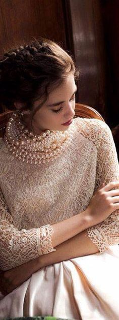A Southern Lady- Pearls and Lace   LadyLuxuryDesigns
