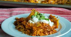 Tortilla Chip Enchiladas | 12 Tomatoes Mexican Food Recipes, Mexican Dishes, Italian Recipes, Yummy Recipes, Burritos, Red Enchilada Sauce, Enchilada Casserole, Tortilla Chips, French Tips