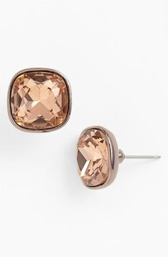So pretty: Cushion cut studs.