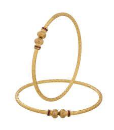 Buy Designer traditional wear Red Gold Plated Bangles bangles-and-bracelet online