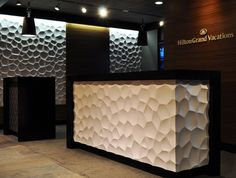 textured wall panels on desk - Google Search