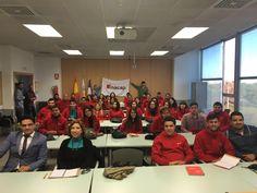 Foto de grupo al inicio de las clases de Neuromarketing con los alumnos de INACAP Chile en UPV Valencia