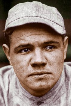 BABE RUTH: Photograph taken in 1918 when he was a pitcher for the Boston Red Sox.