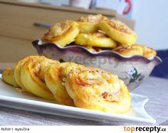 Šneci z kynutého bramborového těsta
