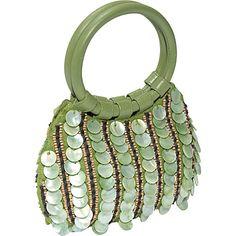 #EveningBags, #Handbags - Moyna Handbags Mother of Pearl Beaded Bag - Clutch
