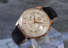 Annons på Tradera: Fin 18K TITUS Genève Chronograph Oversize