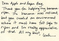 Dear Apple and Paper Bag