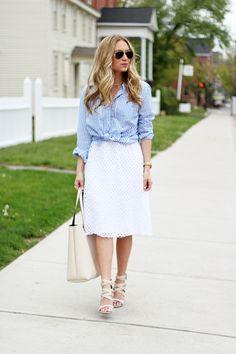 white eyelet skirt outfit | Spinning Threads: White Eyelet Skirt ...