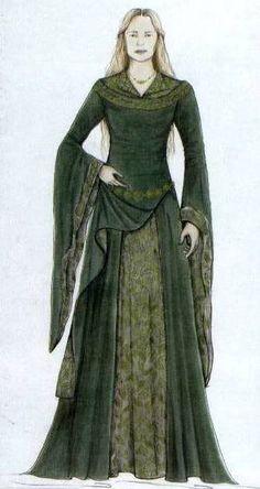 Eowyn costume sketch.