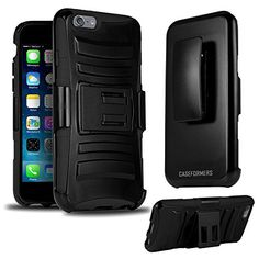 cool CASEFORMERS Duo Armor BLACK for iPhone 6 Plus Combo Case with Stand and Holster (Compatible with 5.5 iPhone 6 Plus)