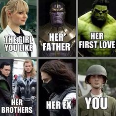The girl you like (using Marvel)