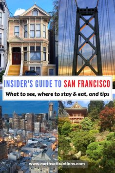 Insider's guide to San Francisco: what to see and do, where to eat in San Francisco, tips, and San Francisco hotels #sanfrancisco #sf #usa #travel