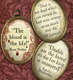 Vampire Literary Quotes - Lovecraft, Poe, Stoker, Dickinson, etc.