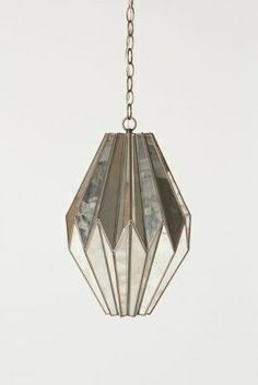 Amazing antique art deco pendant light with skyscraper globe c mirrored pendant lamp from anthropologie reminds me of art deco style aloadofball Image collections