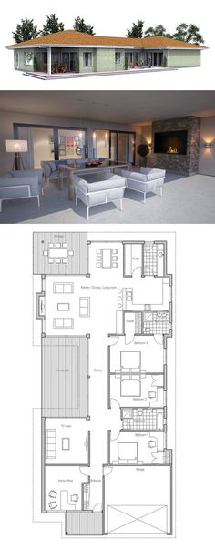 Make dining room and kitchen bigger instead of a second formal dining room. Turn courtyard into another room or make a bigger tv room and office.