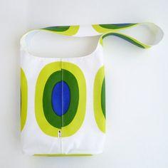 "Marimekko Medium Tote Bag, featuring the ""Melooni"" fabric / oil cloth."