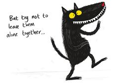 Draw a good or bad wolf by Nadia Shireen.. really nice :)