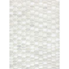 Anatolia Tile Milky Way Blend Mosaic Ceramic Wall Tile (Common: x Actual: x Milky Way Blend Glazed Ceramic Mosaic Oval Wall Stone Mosaic Tile, Mosaic Wall Tiles, Mosaic Glass, Mosaic Backsplash, Pebble Mosaic, Mosaics, Lowes Tile, Backsplash Panels, Penny Tile