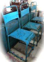 $110 vintage school chairs in metal