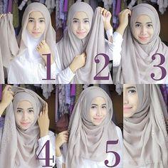 how to wear hijab Square Hijab Tutorial, Simple Hijab Tutorial, Pashmina Hijab Tutorial, Hijab Style Tutorial, Hijab Casual, Hijab Simple, Turban Hijab, Hijab Wedding Dresses, Hijab Bride