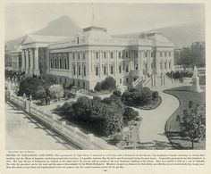 Houses of Parliament, Cape Town Cape Colony, Cape Town South Africa, Houses Of Parliament, National Archives, Most Beautiful Cities, Antique Maps, Us Images, Old Houses, Good Times