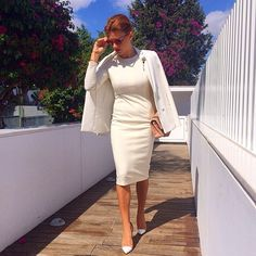 Business Professional Dress, Professional Dresses, Work Fashion, Spring Fashion, Fashion Design, Ramona Filip, Beautiful Outfits, Beautiful Clothes, Work Wardrobe